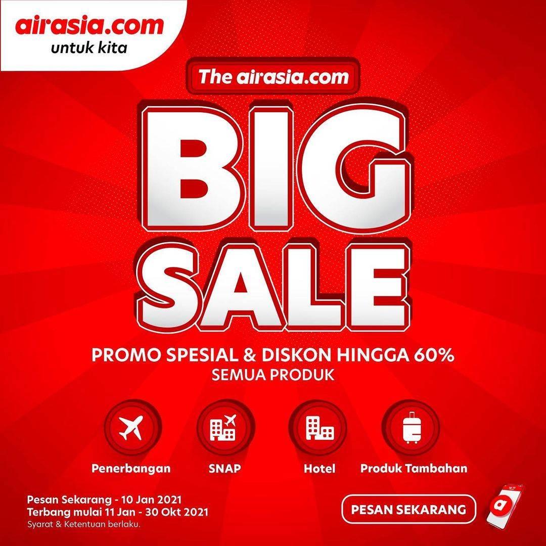 Promo diskon Airasia Big Sale - Diskon Hingga 60% Untuk Semua Produk