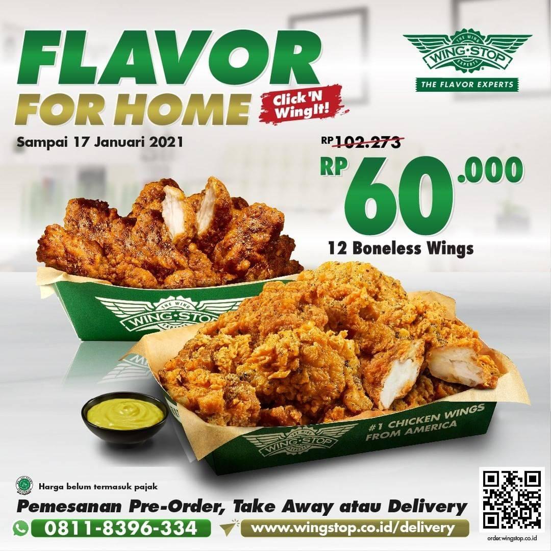 Diskon Wingstop Promo Flavor For Home 12 Boneless Wings Only For Rp. 60.000