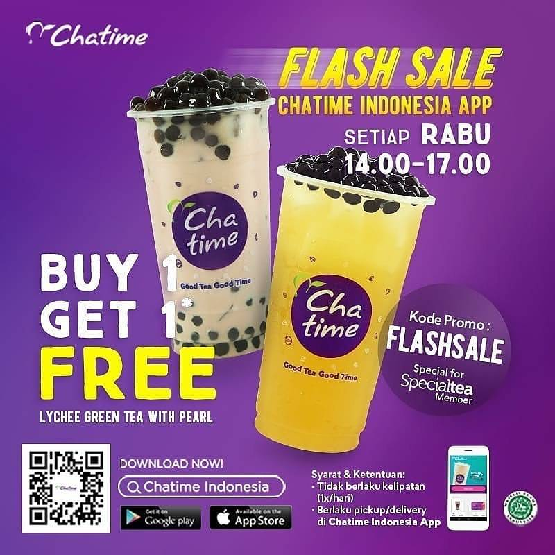 Diskon Chatime Flash Sale Buy 1 Get 1 Free Every Wednesday