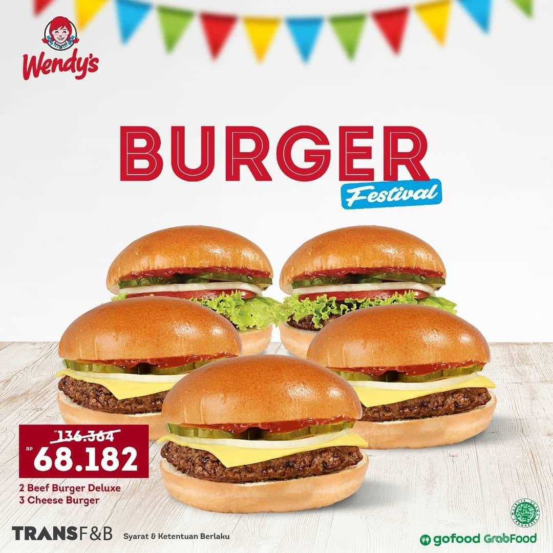Promo diskon Wendys Promo Burger Festival - Harga Mulai Dari Rp. 68.182
