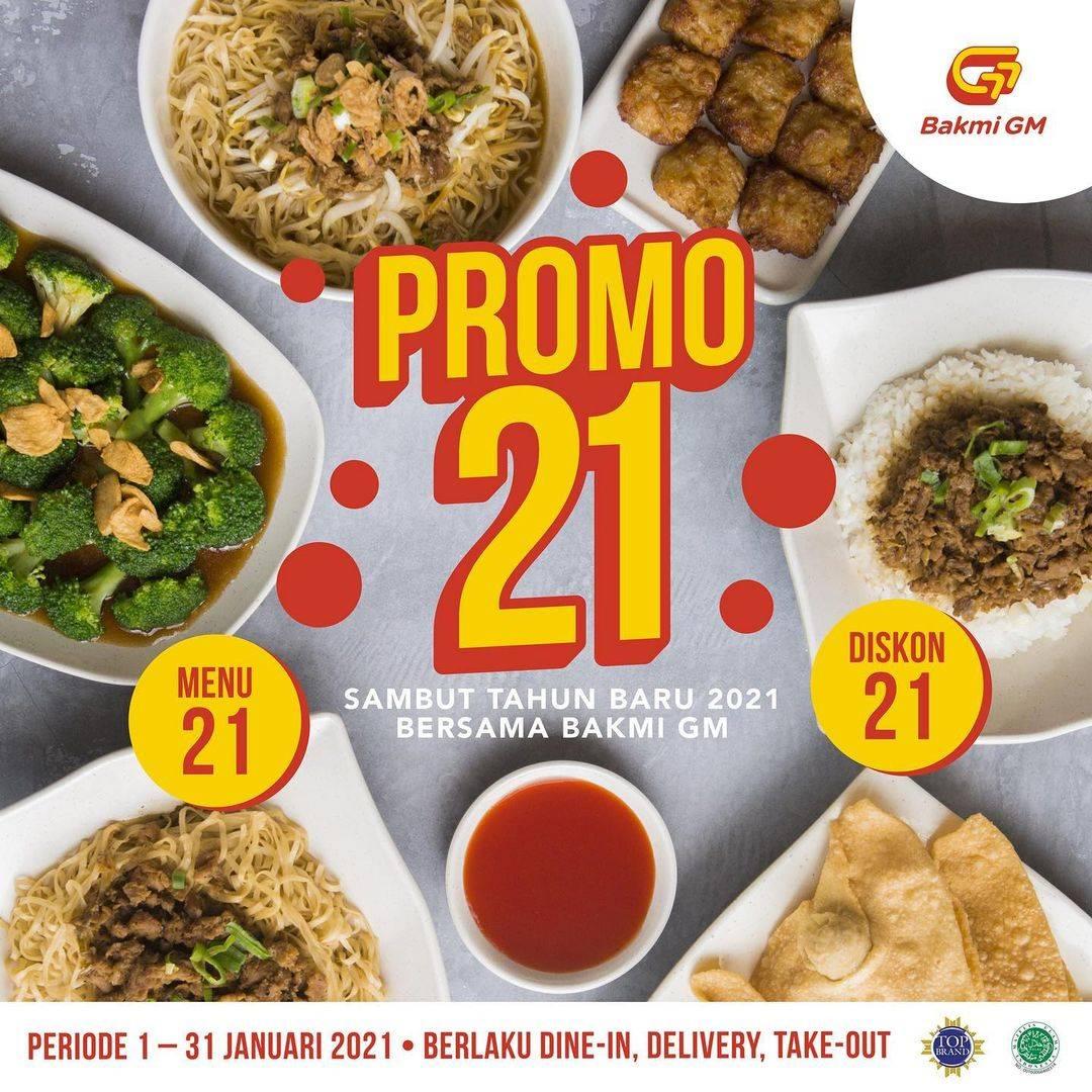 Diskon Bakmi GM Promo 21 - Menu & Diskon Serba 21
