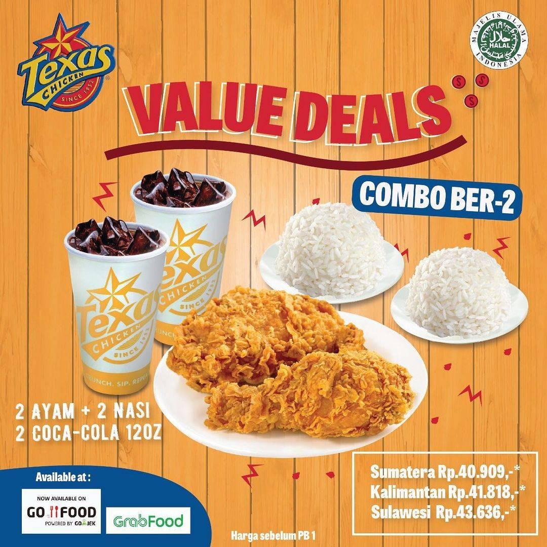 Diskon Texas Chicken Promo Value Deals Paket Combo Bertiga & Berlima