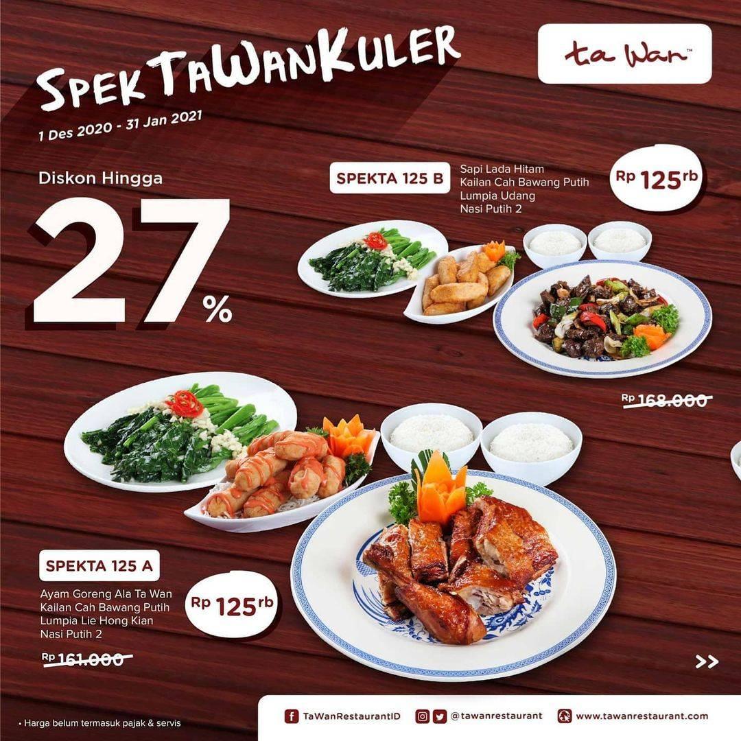 Diskon Ta Wan Restaurant Promo Spektawankuler Diskon Hingga 27%