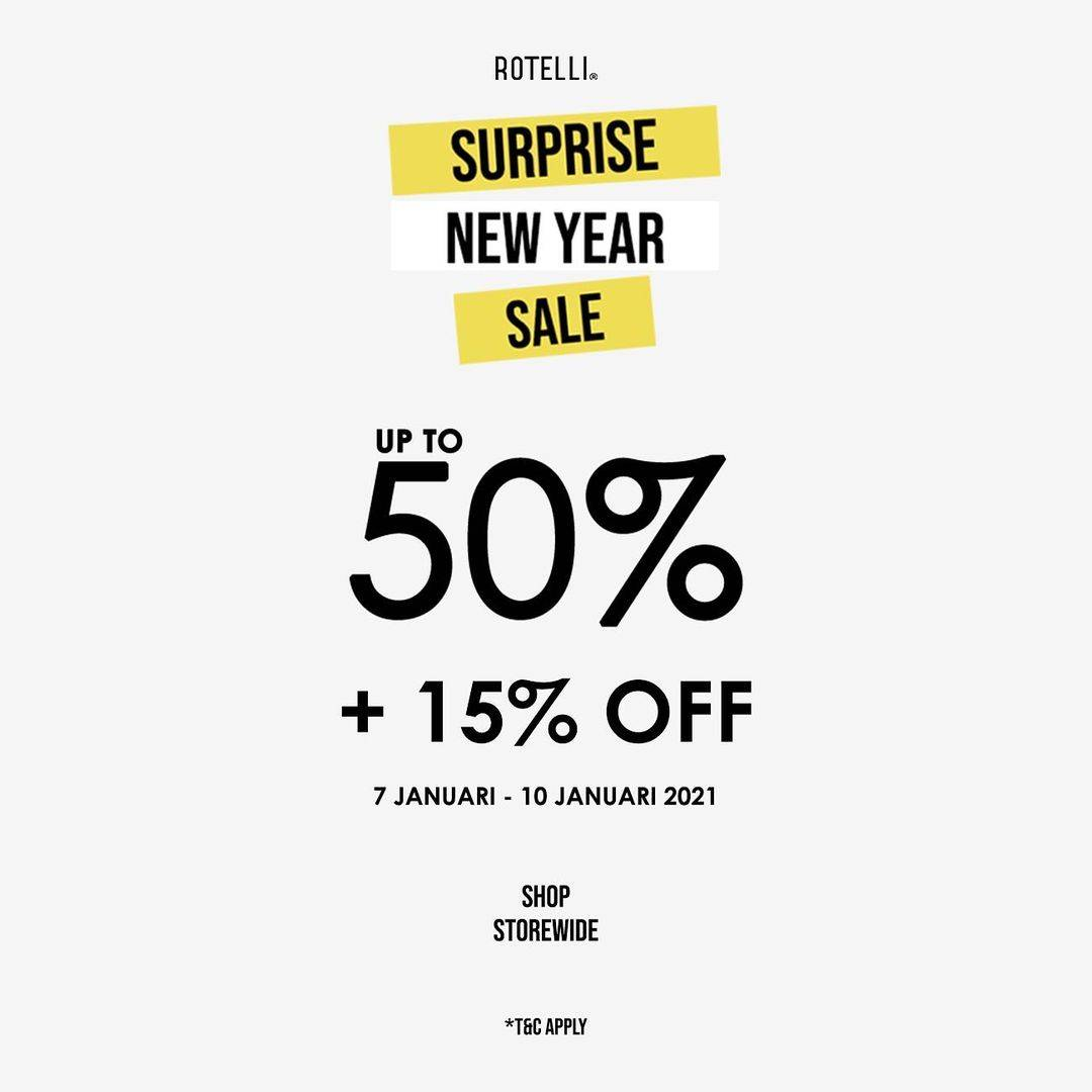 Diskon Rotelli Suprise New Year Sale Up To 50% + 15% Off