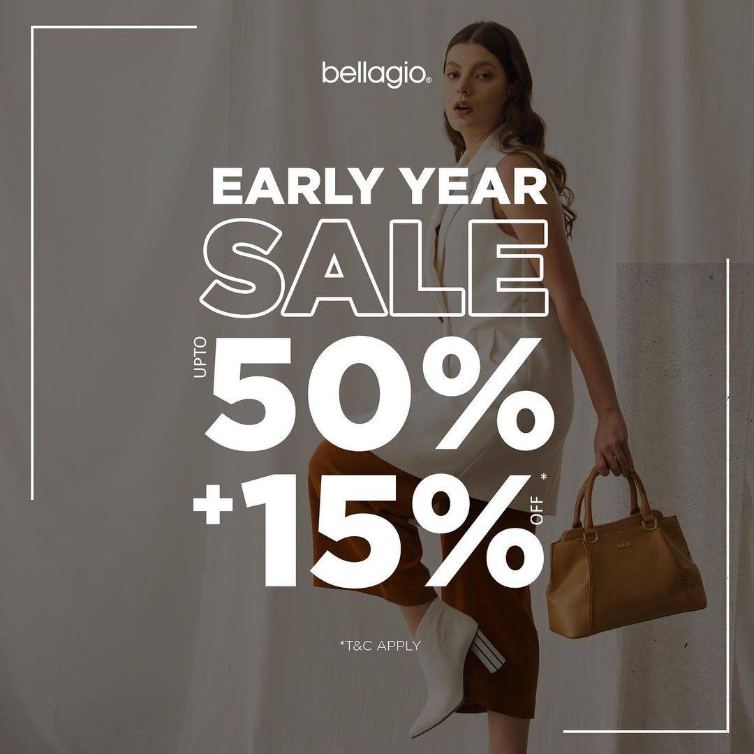 Diskon Bellagio Early Year Sale Up To 50% + 15% Off