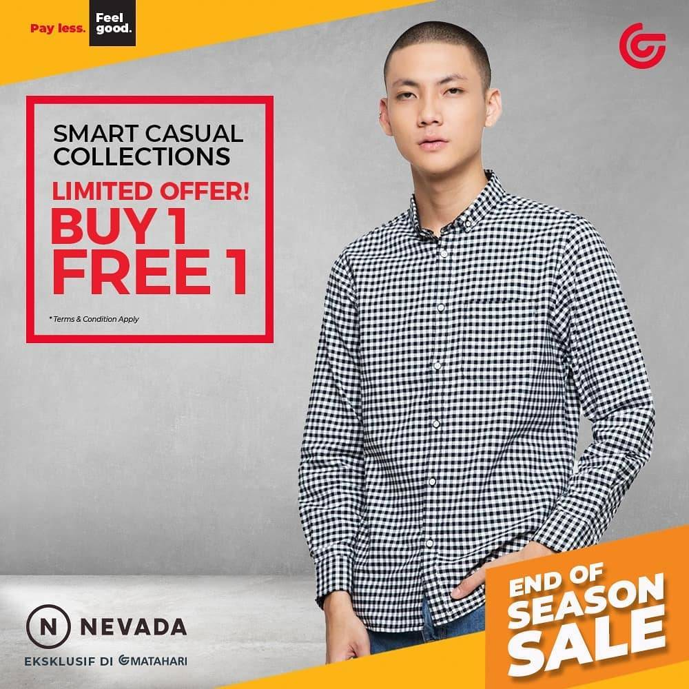 Diskon Matahari Buy 1 Get 1 Free On Nevada Smart Casual Collections