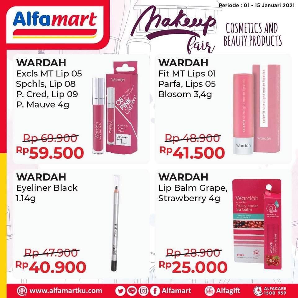 Diskon Katalog Promo Alfamart Makeup Fair Periode 1 - 15 Januari 2021