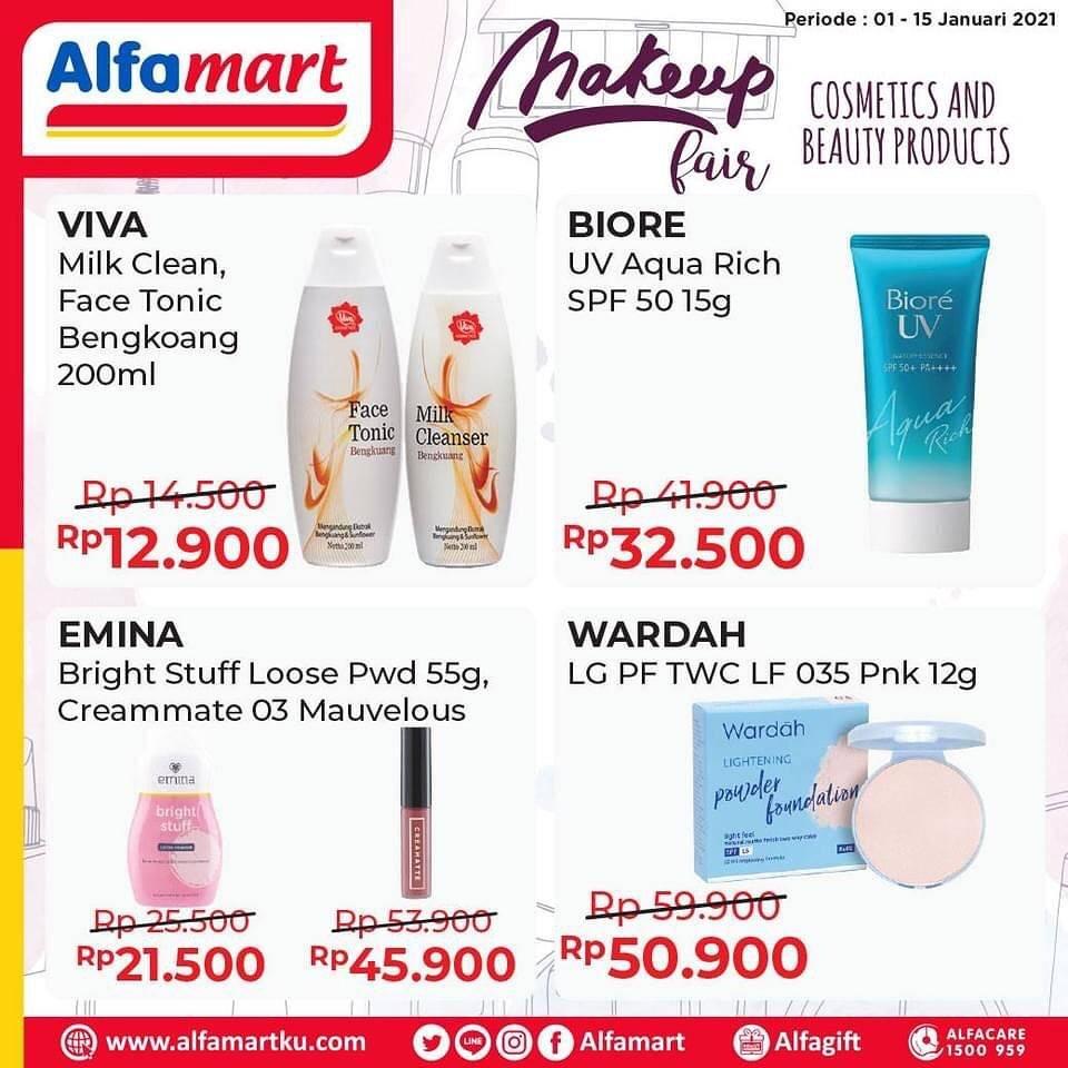 Promo diskon Katalog Promo Alfamart Makeup Fair Periode 1 - 15 Januari 2021