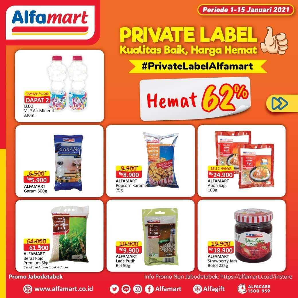 Diskon Katalog Promo Alfamart Private Label Periode 1 - 15 Januari 2021