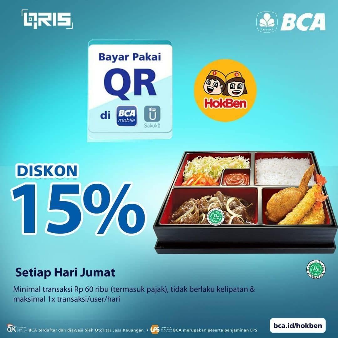 Diskon Hokben Diskon 15% Untuk Transaksi Dengan QR BCA