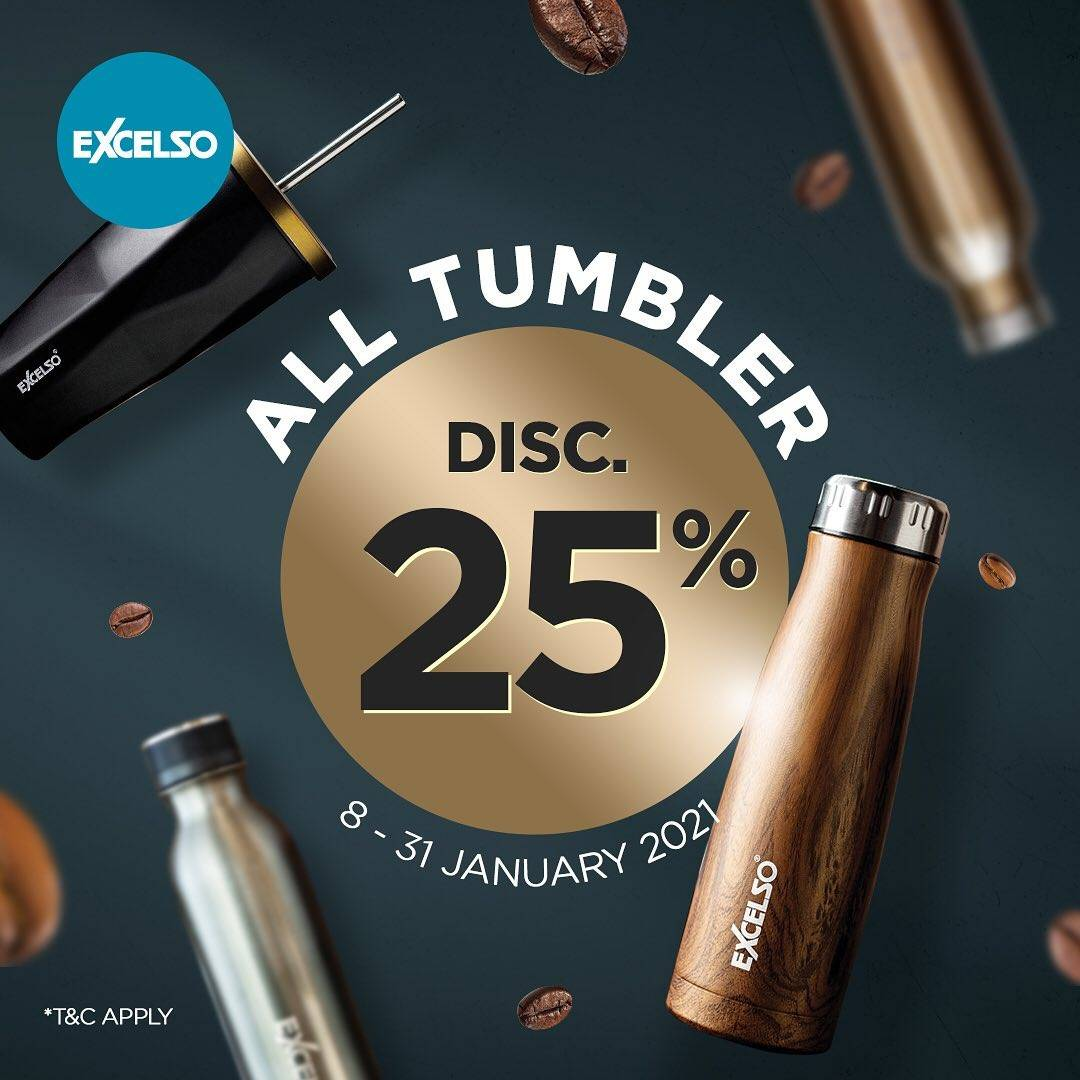 Diskon Excelso Discount 25% Off On All Tumbler