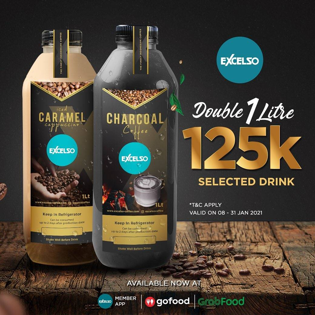 Diskon Excelso Promo Double 1 Liter Rp. 125.000 On Selected Drink