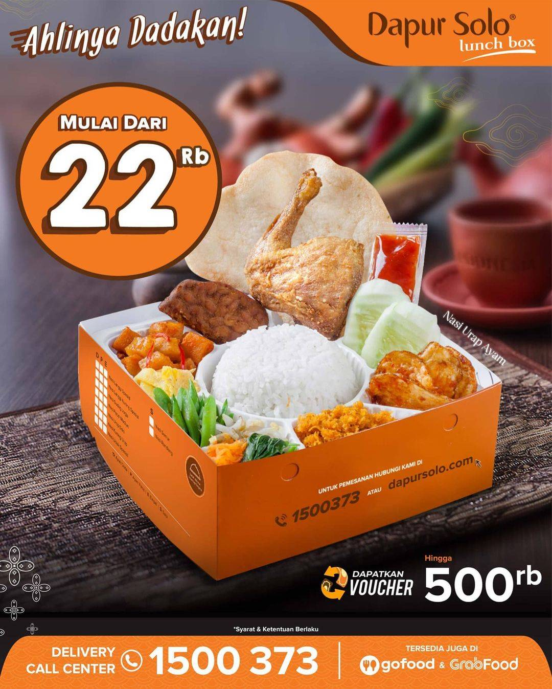 Diskon Dapur Solo Promo Lunch Box Harga Mulai Dari Rp. 22.000