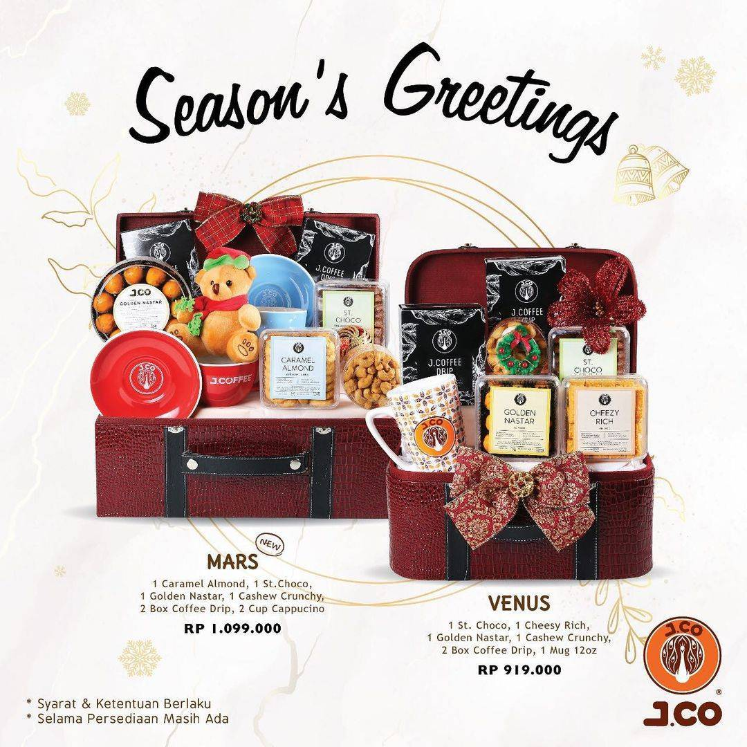 Promo diskon J.CO Promo Season's Greetings Dengan Harga Mulai Dari Rp. 449.000