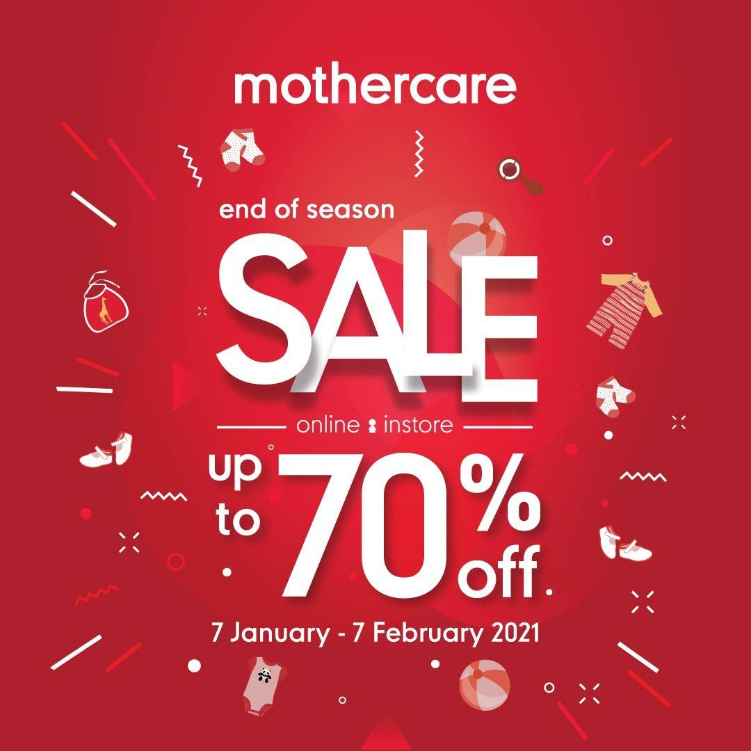 Diskon Mothercare End Season Sale Up To 70% Off