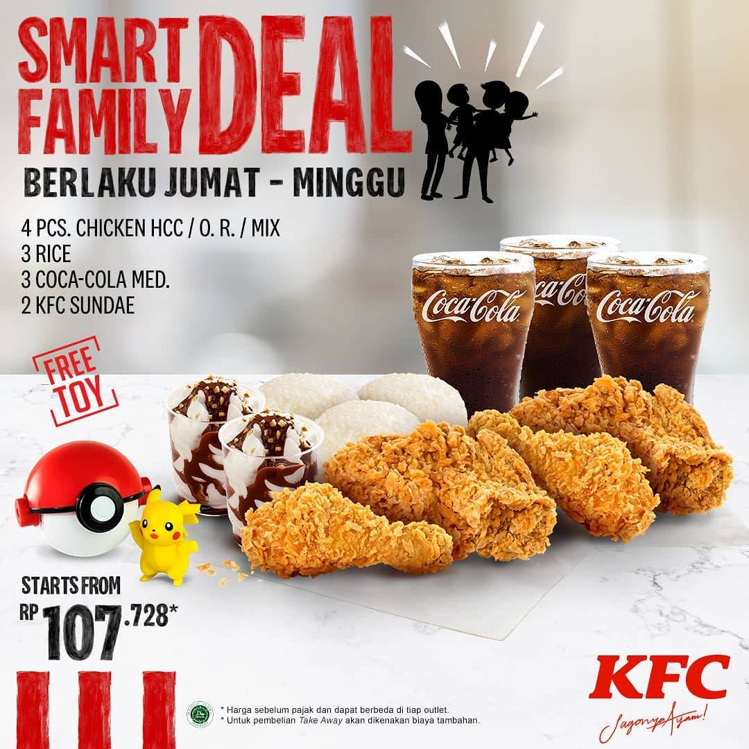 Diskon KFC Promo Smart Family Deal Harga Mulai Dari Rp. 107.728