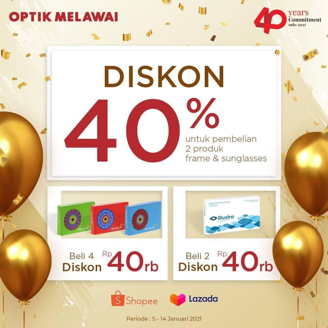 Promo diskon Optik Melawai Diskon Hingga 40% Untuk Contact Lenses