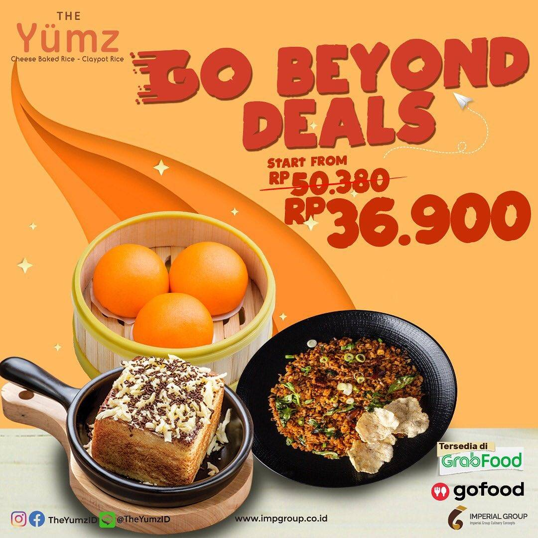 Promo diskon The Yumz Promo Go Beyond Deals Start From Rp. 36.900