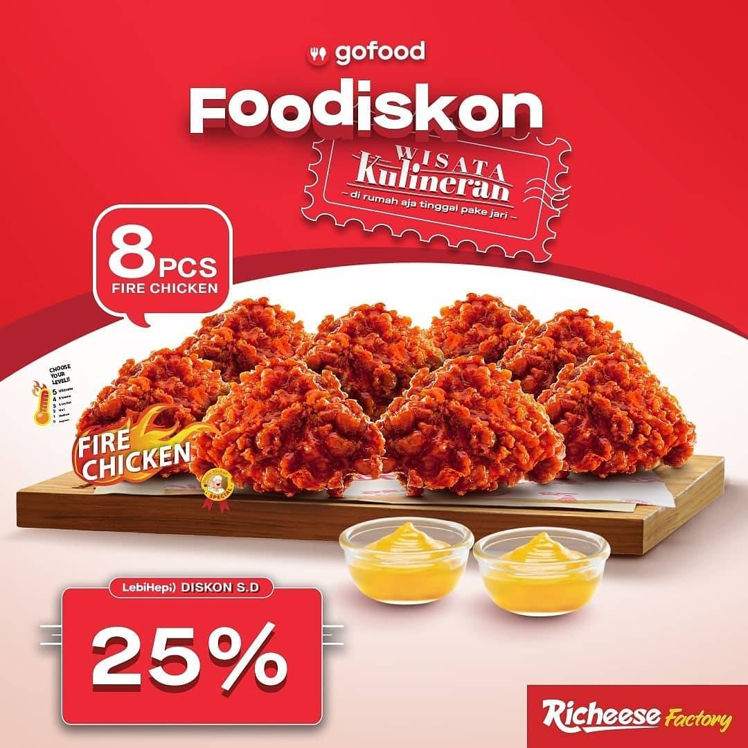 Diskon Richeese Factory Foodiskon 25% Dengan GoFood