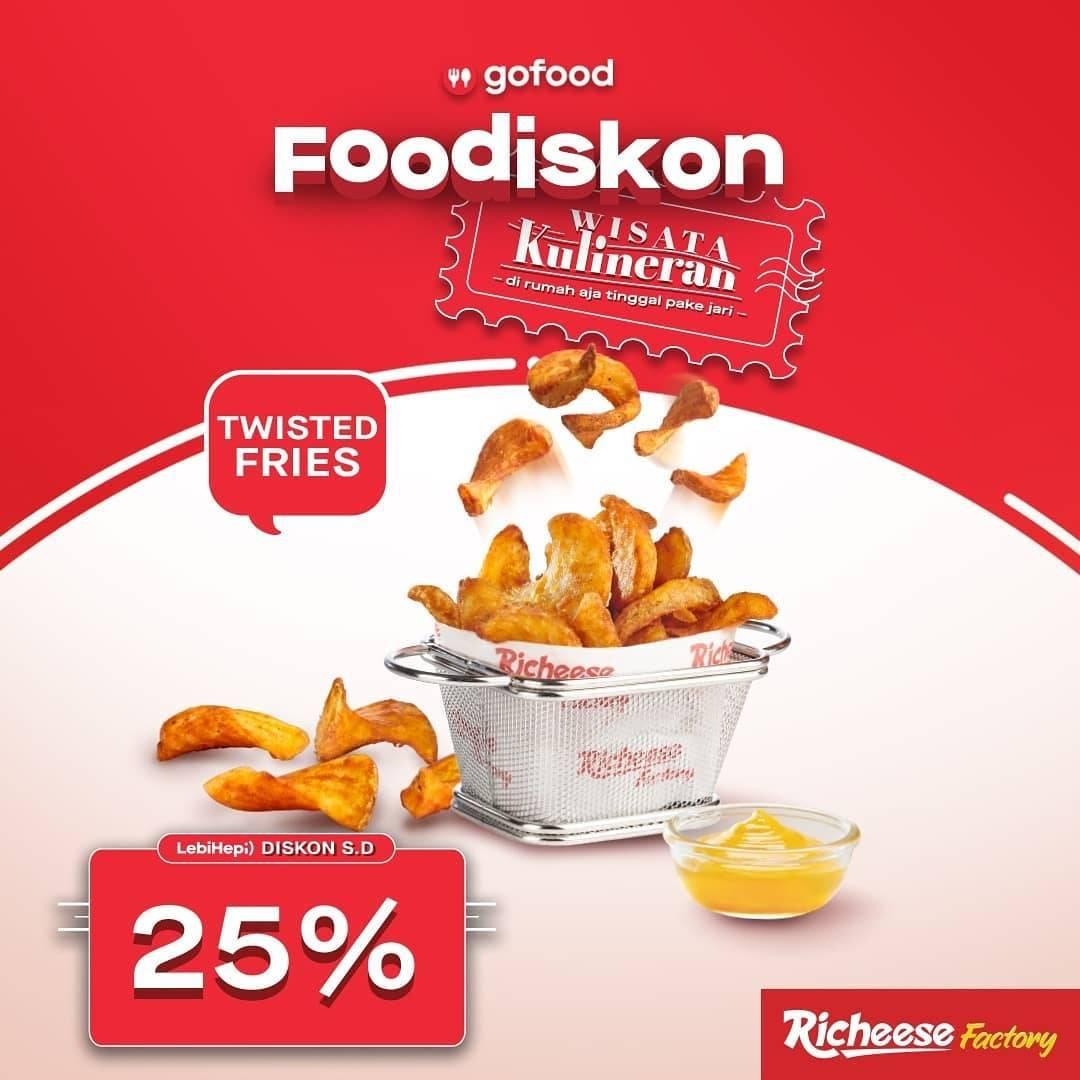 Promo diskon Richeese Factory Foodiskon 25% Dengan GoFood