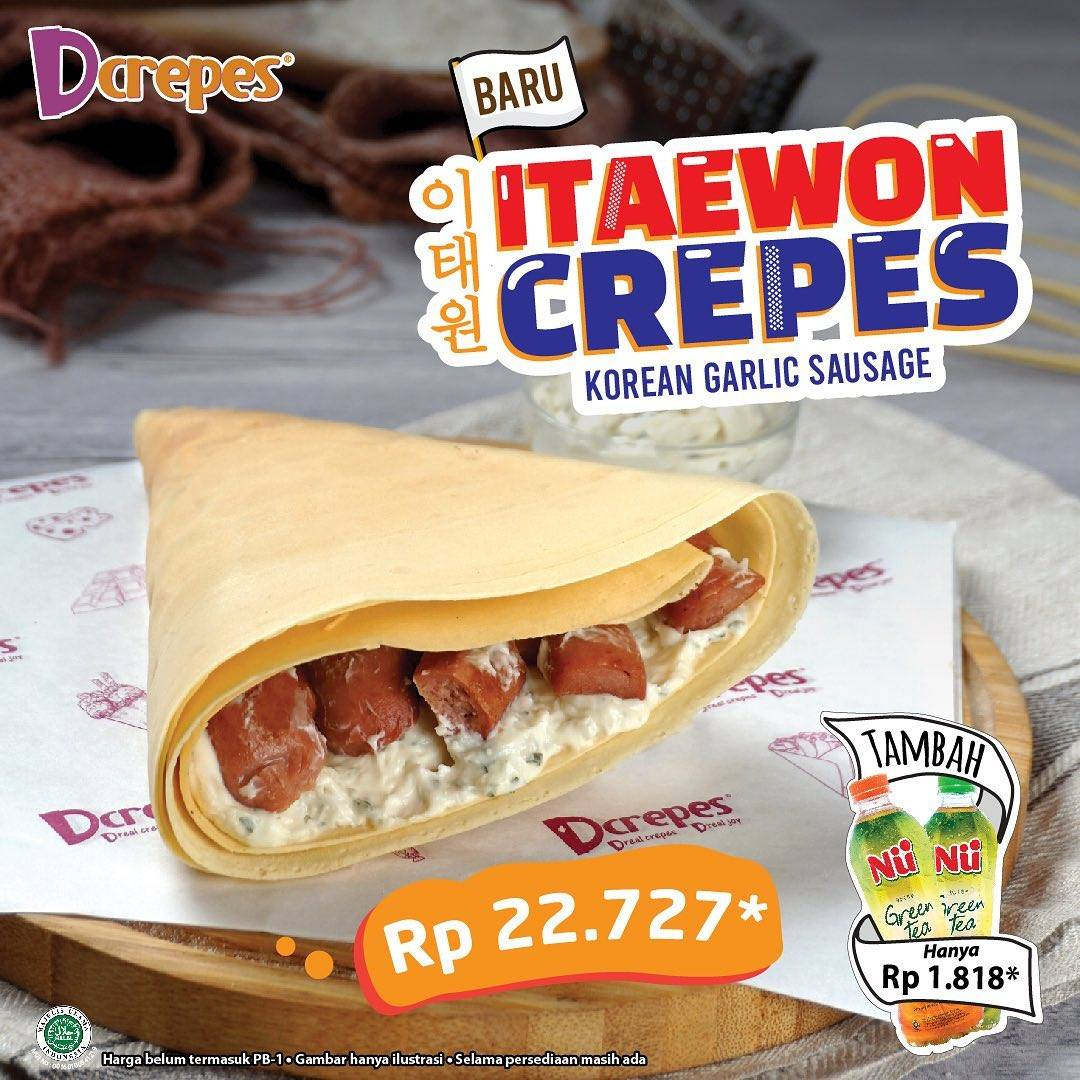 Diskon DCrepes New Menu Itaewon Crepes Only For Rp. 22.272