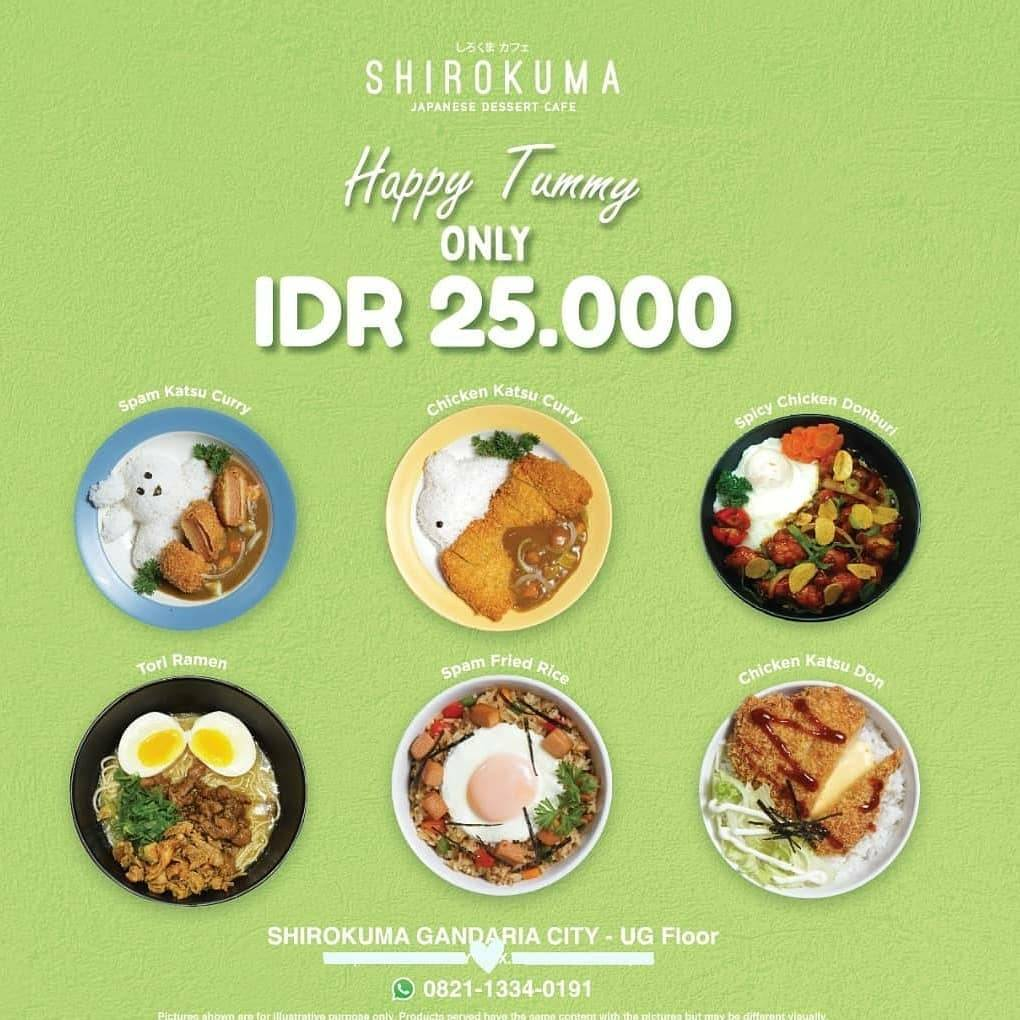 Promo diskon Shirokuma Promo Happy Tummy Menu Only For Rp. 25.000