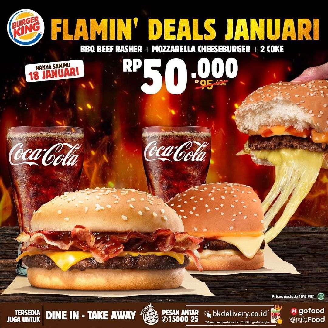 Promo diskon Burger King Promo Flamin Deals Januari