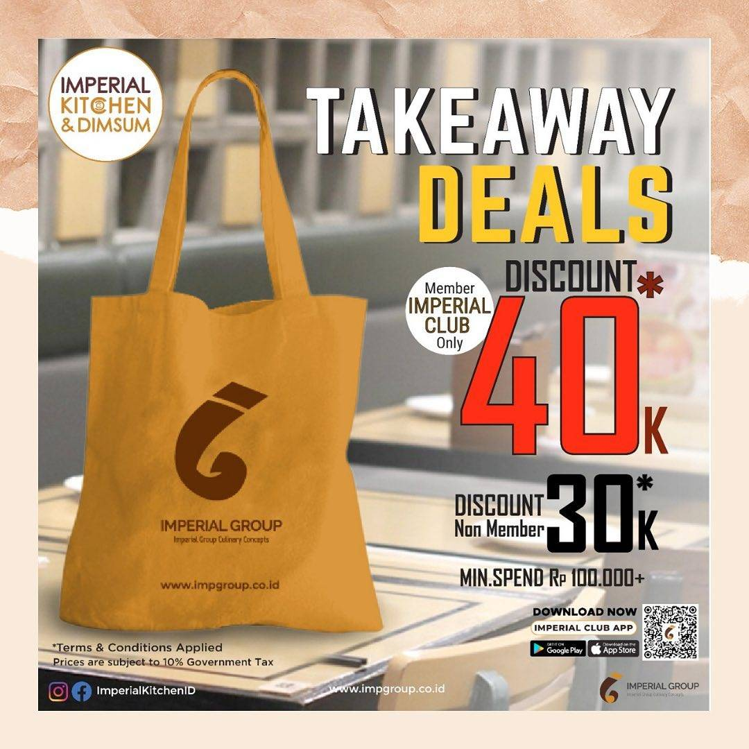 Diskon Imperial Group Take Away Deals Discount Up To Rp. 40.000