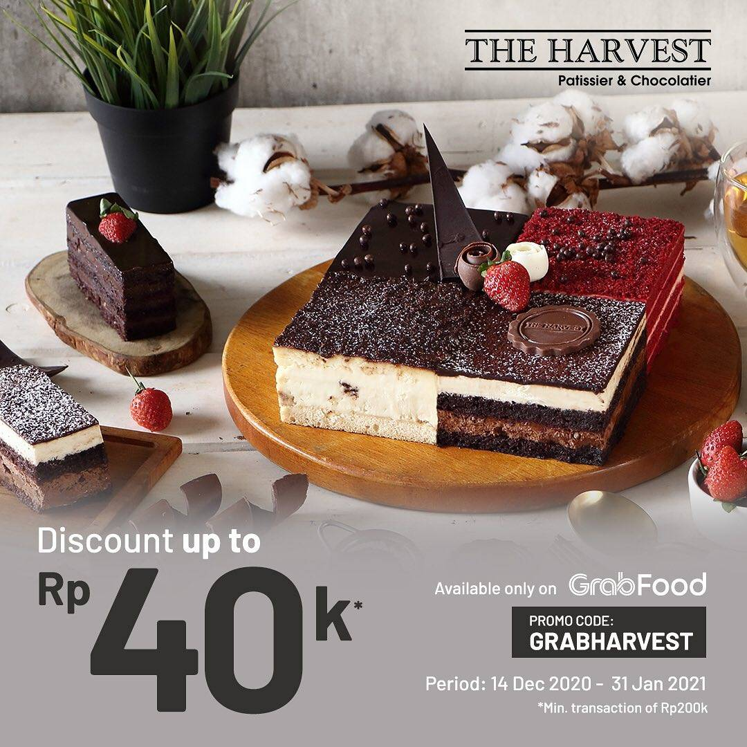 Diskon The Harvest Discount Up To 40.000 On GrabFood