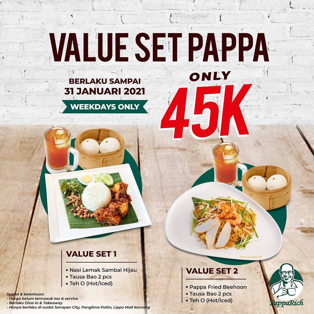 Diskon Papparich Value Set Pappa Only Rp. 45.000