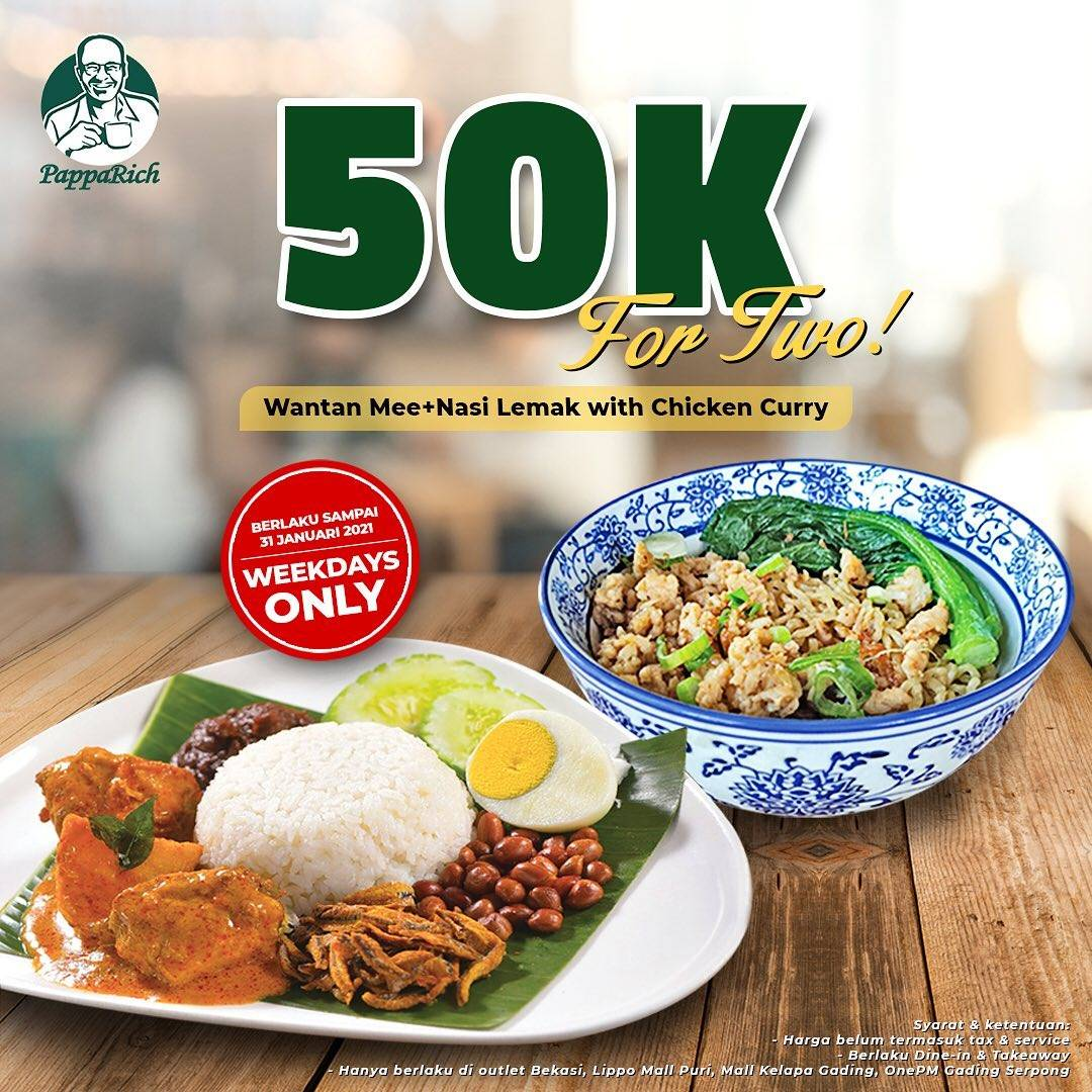 Diskon Papparich Special Deals Menu For Two Only Rp. 50.000