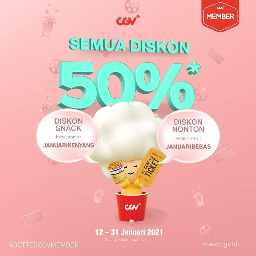 Diskon CGV Diskon 50% Buat Nonton & Jajan