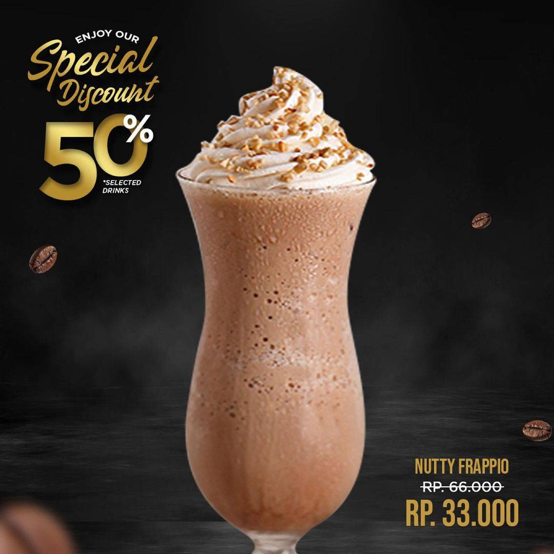 Promo diskon Excelso Discount 50% Off For Selected Drinks