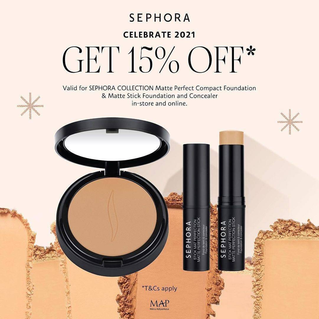 Diskon Sephora Get Discount 15% Off On Sephora Selected Collection