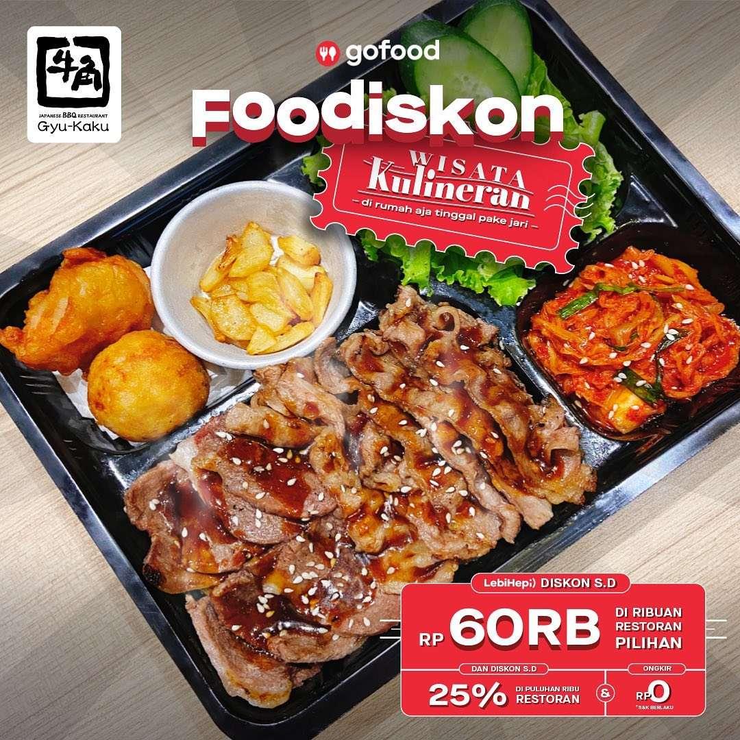 Diskon Gyukaku Foodiskon Rp. 60.000 Dengan GoFood