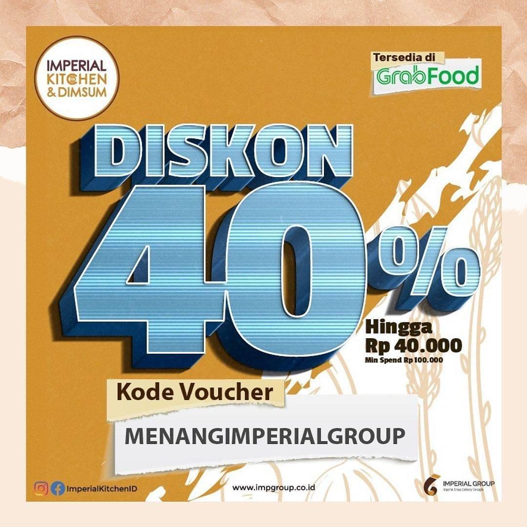 Promo diskon Imperial Group Diskon 40% Di GrabFood