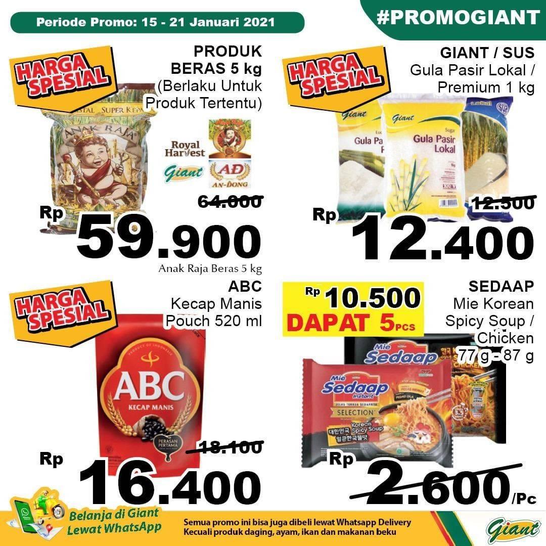 Promo diskon Katalog Promo Giant Hemat JSM Terbaru Periode 15 - 21 Januari 2021