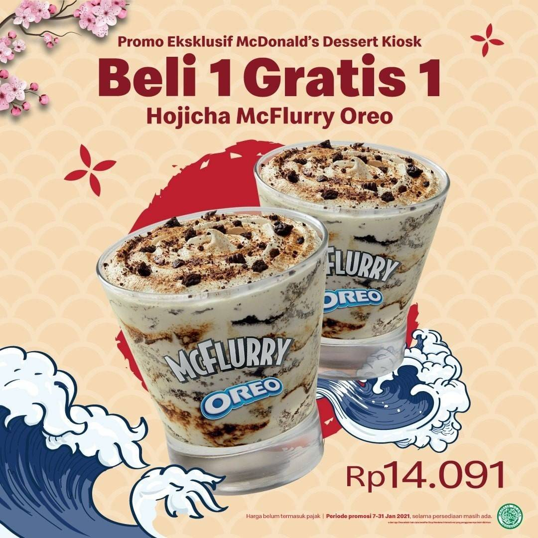 Diskon McDonalds Beli 1 Gratis 1 Hojicha McFlurry Oreo