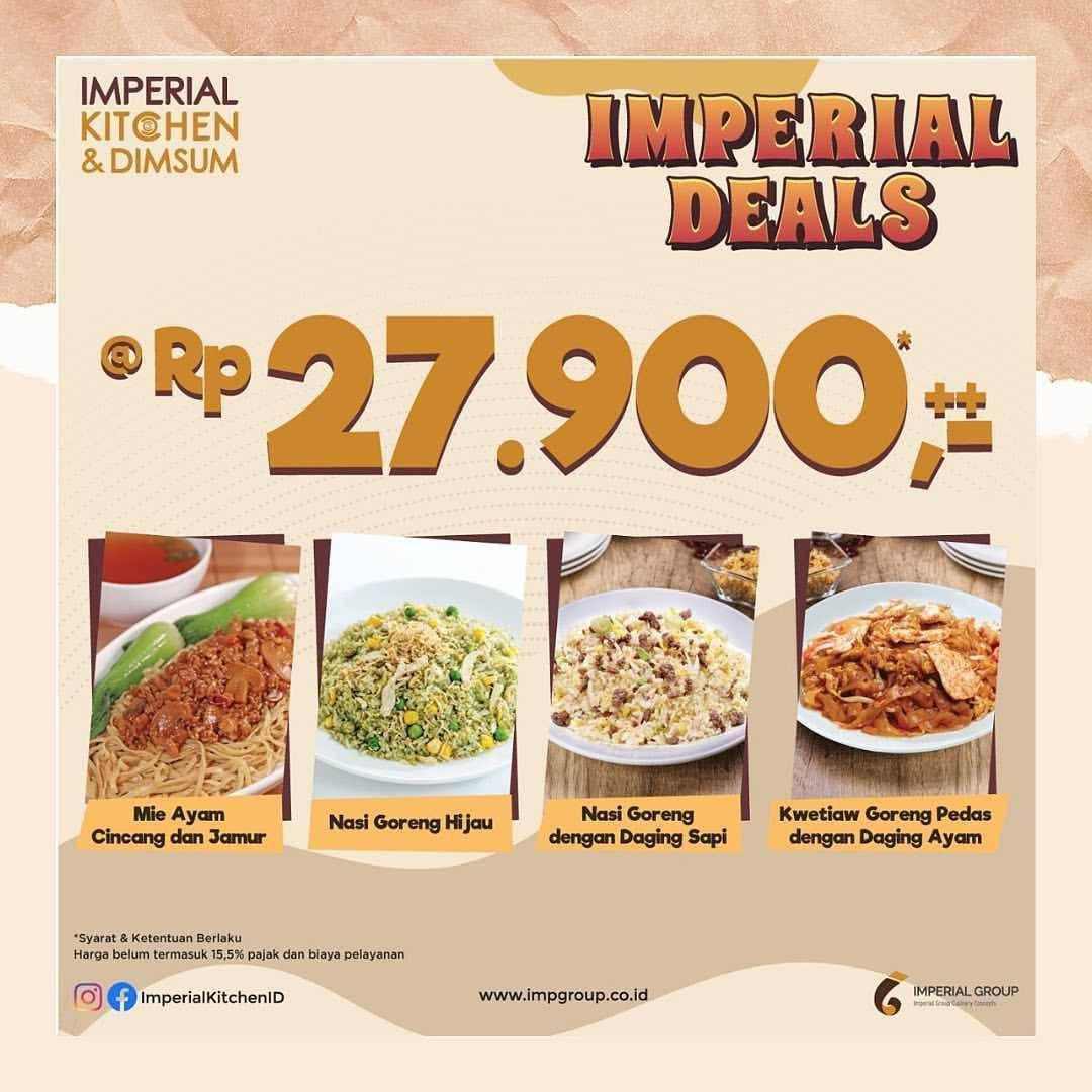 Diskon Imperial Kitchen Promo Imperial Deals Rp. 27.900++