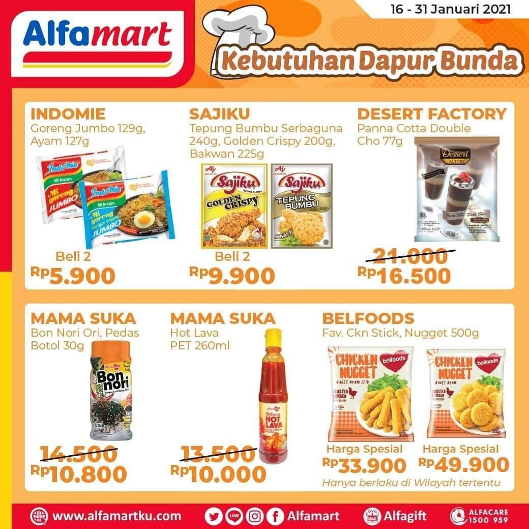 Diskon Katalog Promo Alfamart Kebutuhan Dapur Bunda Periode 16 - 31 Januari 2021