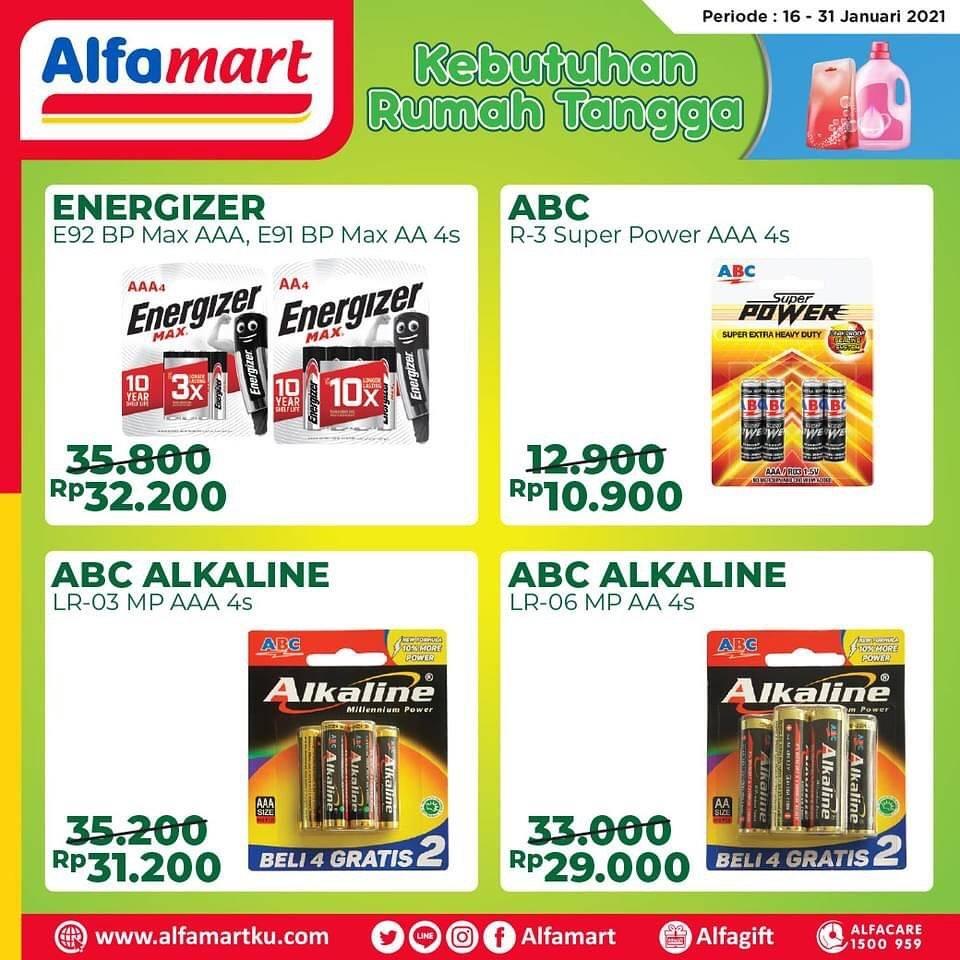 Promo diskon Katalog Promo Alfamart Kebutuhan Rumah Tangga Periode 16 - 31 Januari 2021