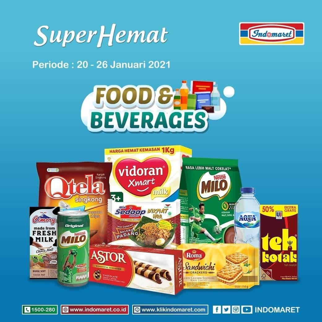 Diskon Katalog Promo Indomaret Super Hemat Terlengkap Periode 20 - 26 Januari 2021