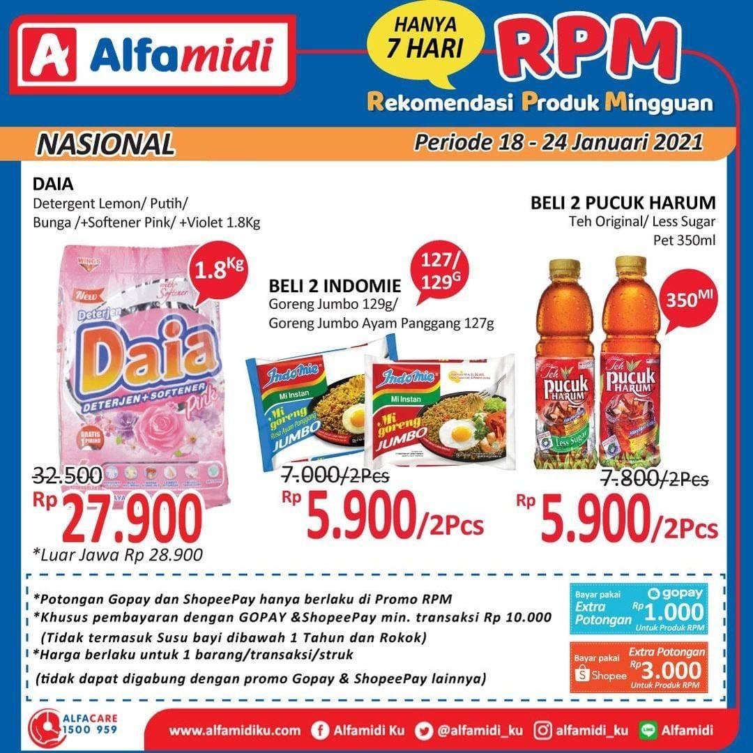 Diskon Katalog Promo Alfamidi Rekomendasi Produk Mingguan Periode 18 - 24 Januari 2021