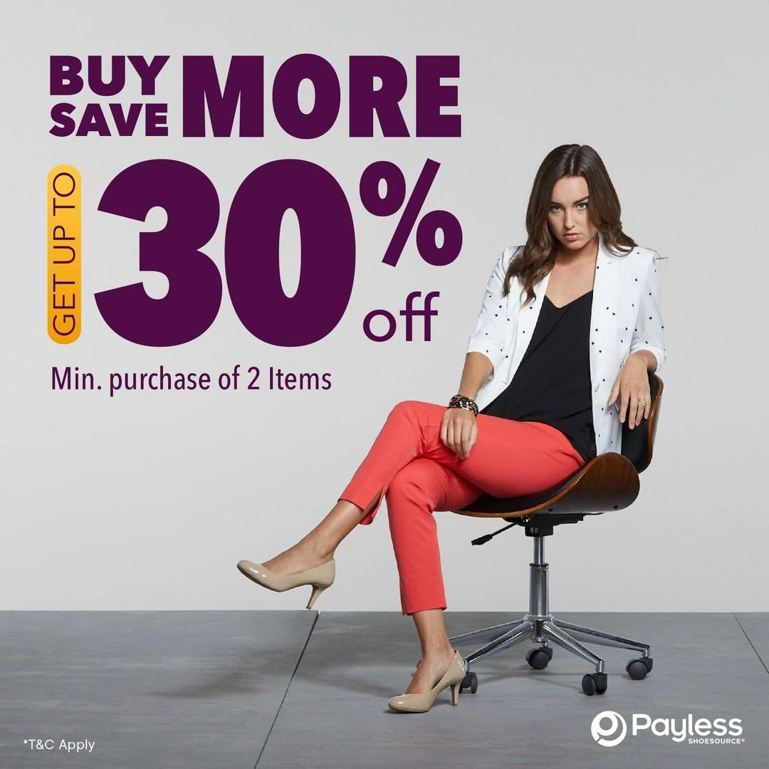 Diskon Payless Buy More Get Discount Up To 30% Off