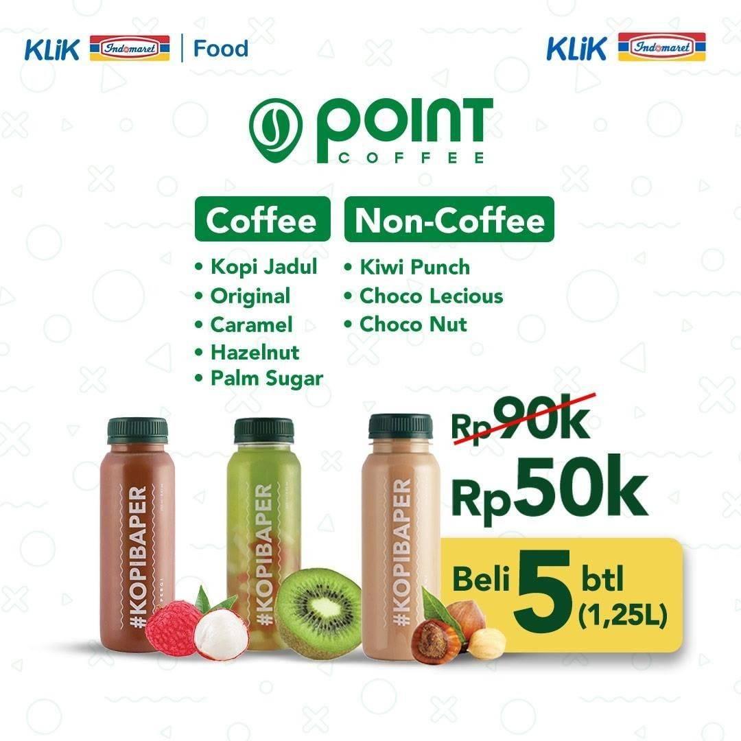Diskon Point Coffee Beli 5 Botol Minuman Favorit Hanya Rp. 50.000