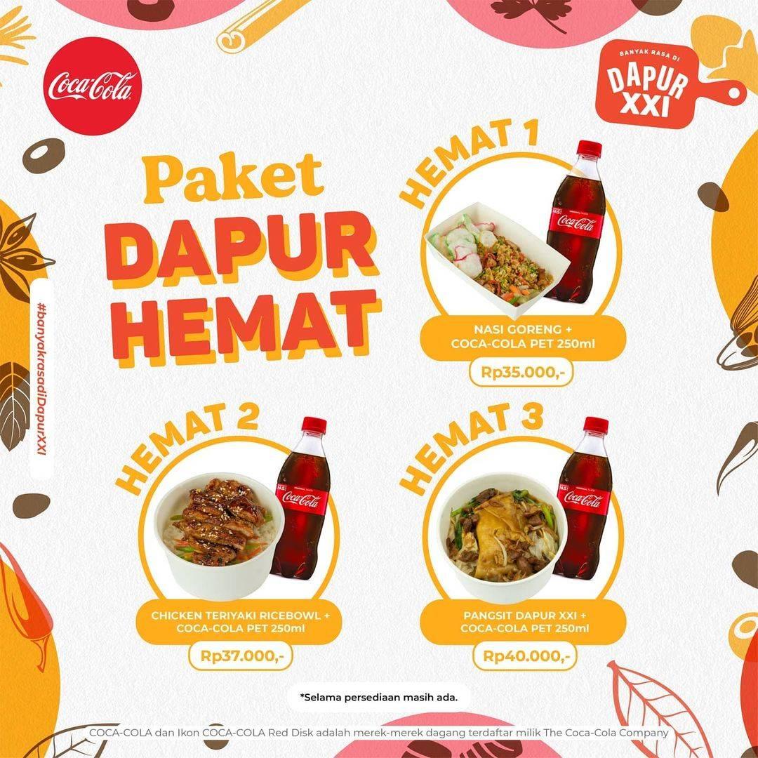 Diskon XXI Cafe Paket Dapur Hemat Mulai Dari Rp. 35.000