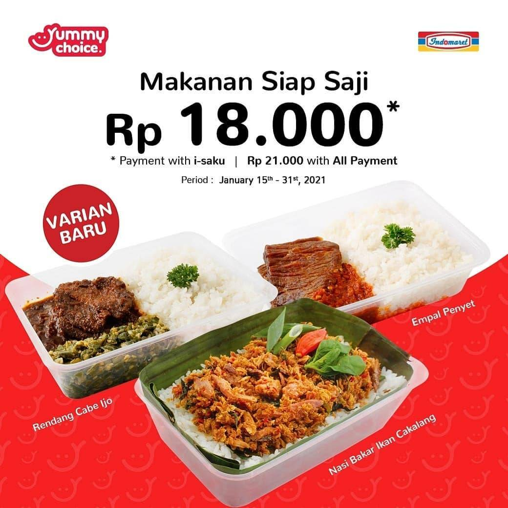 Promo diskon Indomaret Promo Makanan Siap Saji Harga Mulai Dari Rp. 15.000