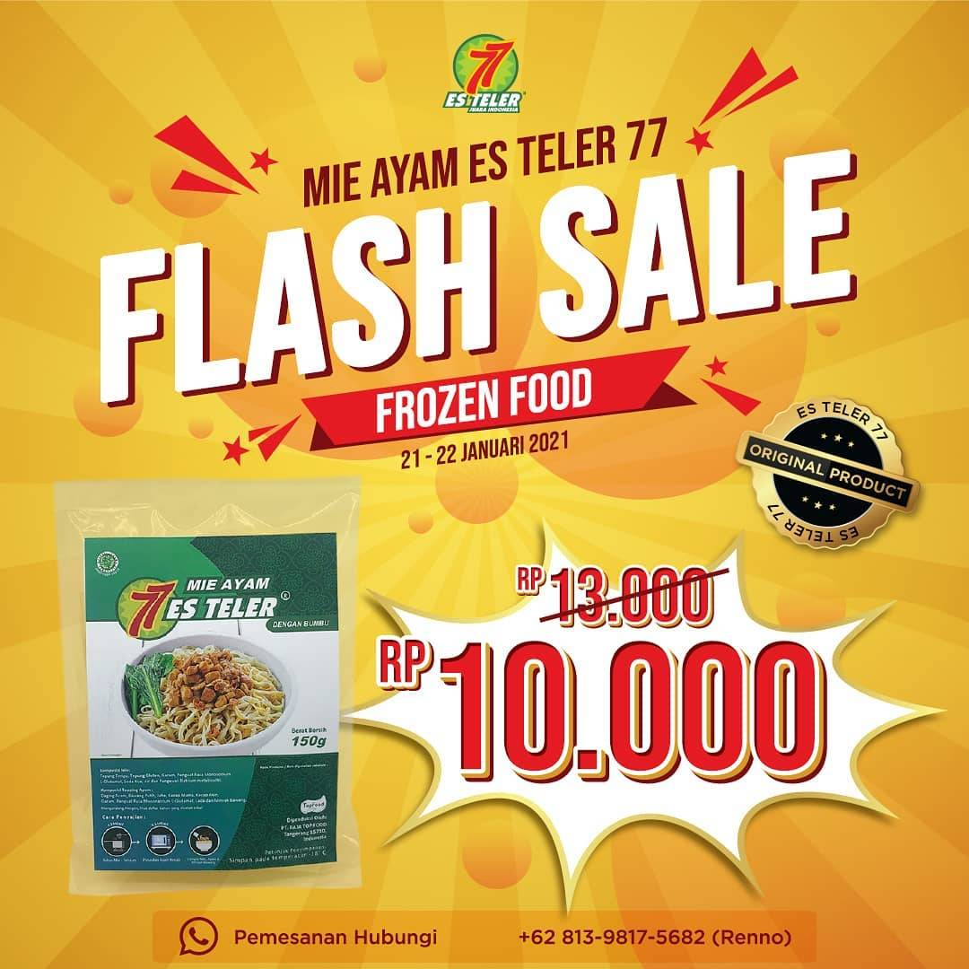 Diskon Es Teler 77 Flash Sale Frozen Food Rp. 10.000