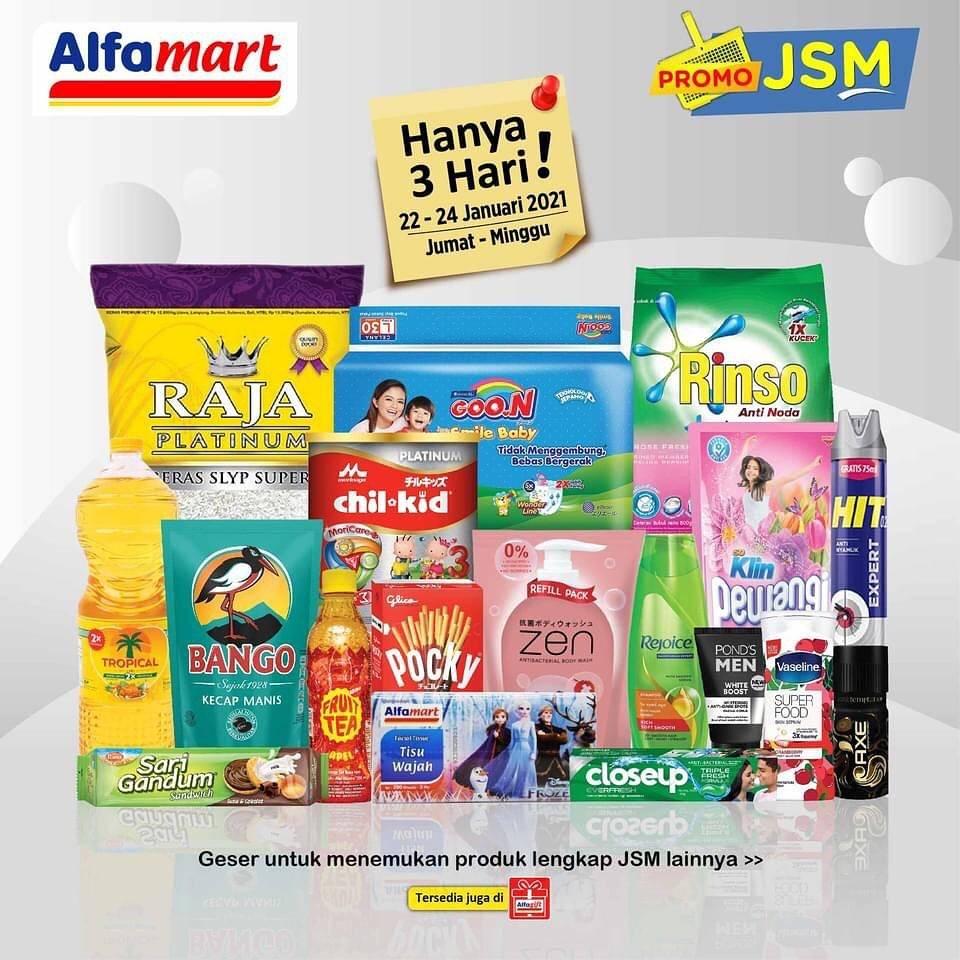 Diskon Katalog Promo Alfamart JSM Terbaru Periode 22 - 24 Januari 2021