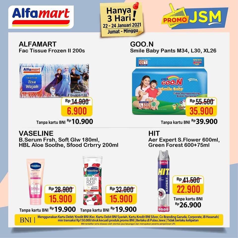Promo diskon Katalog Promo Alfamart JSM Terbaru Periode 22 - 24 Januari 2021